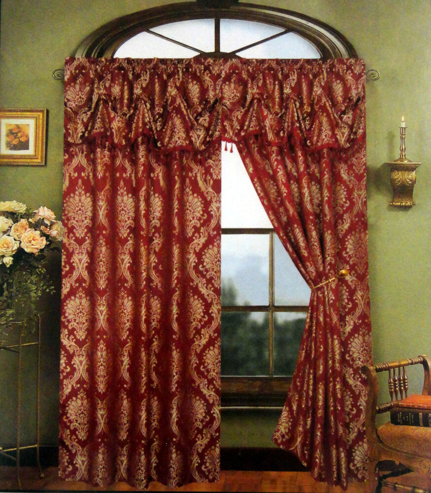 cameron jacquard panel with attached valance by regal home