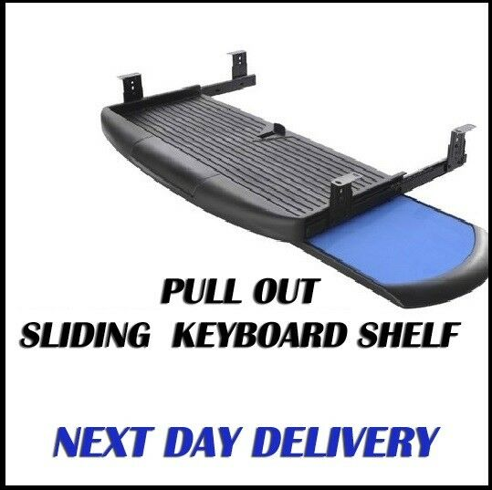Under Desk Pull Out Sliding Keyboard Shelf With Mouse Pad