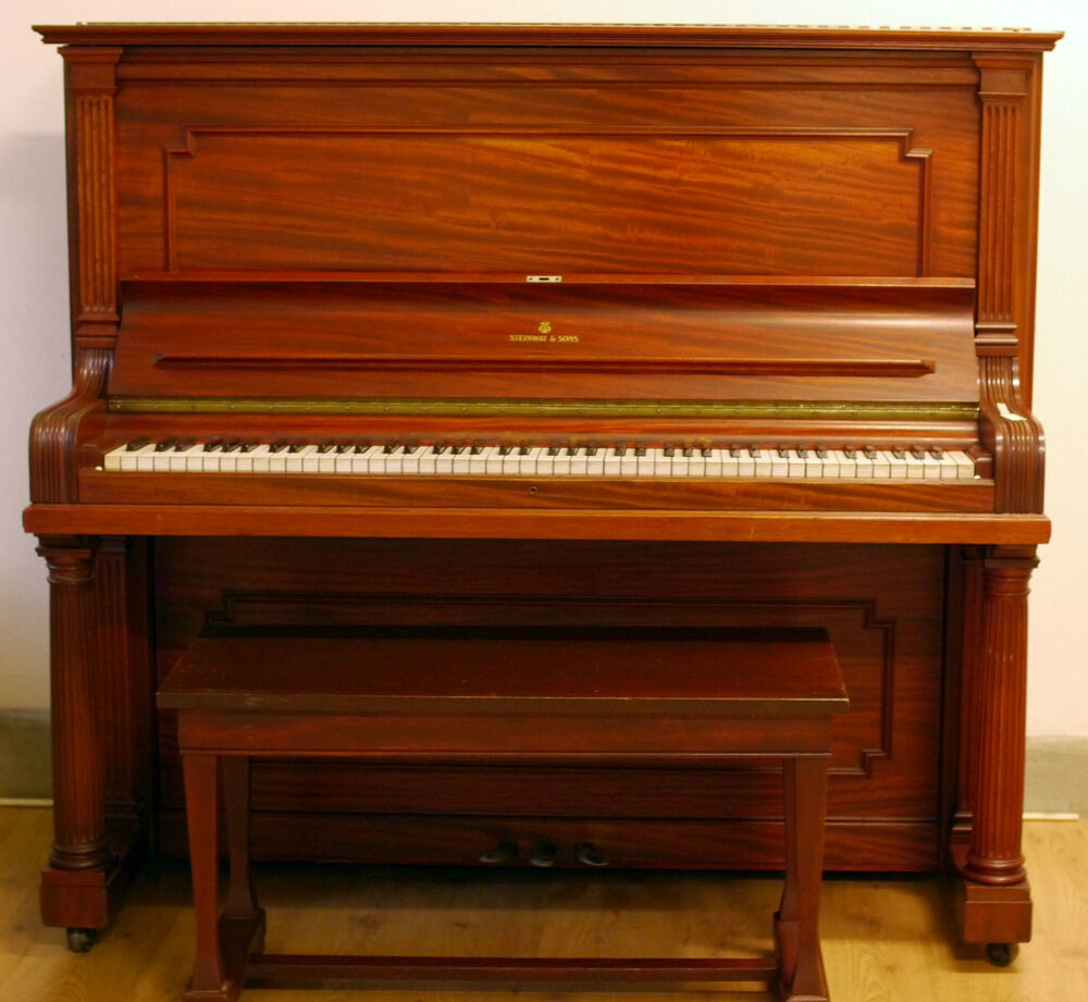 steinway sons upright piano ebay. Black Bedroom Furniture Sets. Home Design Ideas