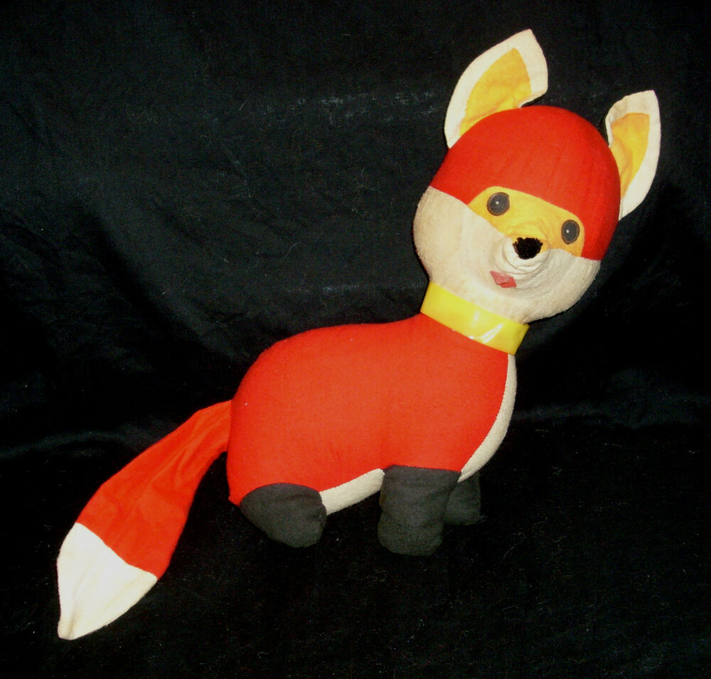 "12"" VINTAGE RED WHITE FOX GENIE TOYS INC STUFFED ANIMAL ..."