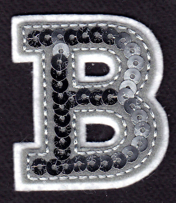 "Silver Letter B: Silver Sequin 2"" Letter ""B"""