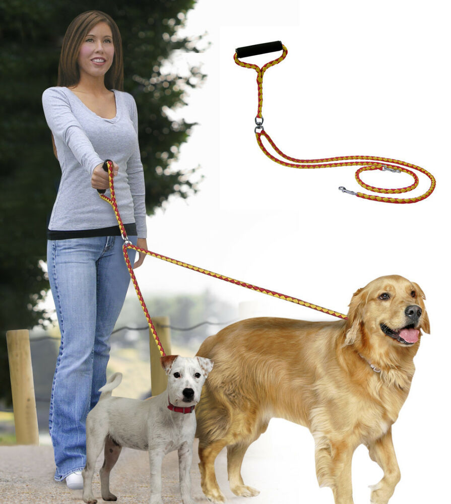 52 Quot Long No Tangle Dual Leash Walk Two Dogs At Once 500 Lb
