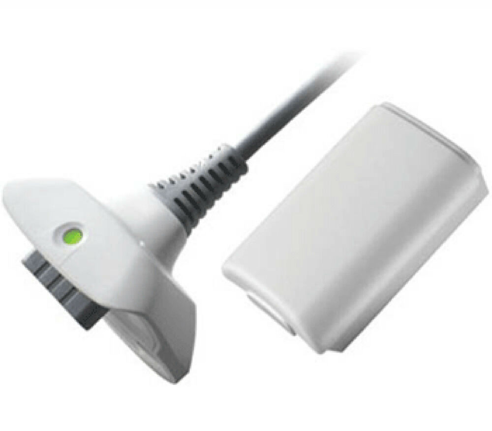 NEW WHITE PLAY AND CHARGE KIT + RECHARGEABLE BATTERY FOR ...