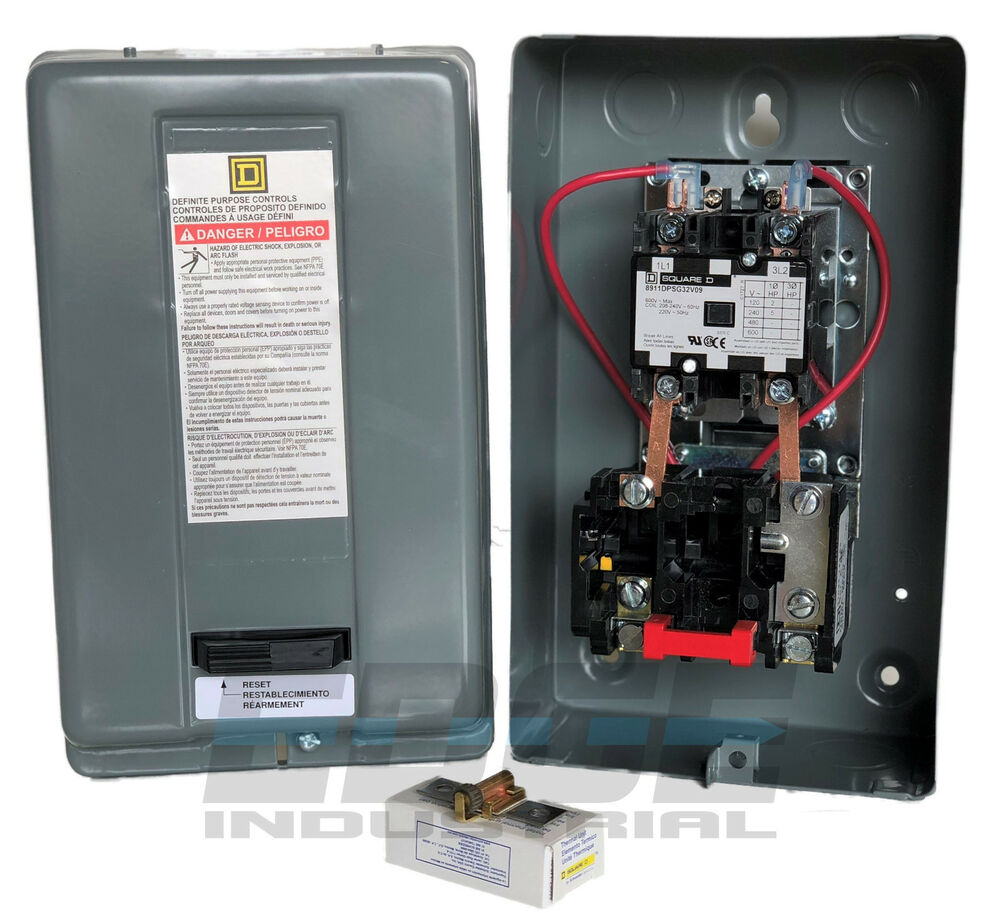 Magnetic Motor Starter Control By Square D 5hp 1 Phase