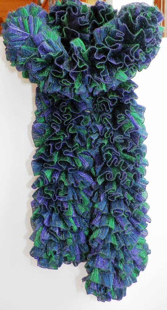 Grapevine Lace Knitting Pattern : Handmade Knitted Frilly Ribbon Boa Scarf; Color: Grapevine ...