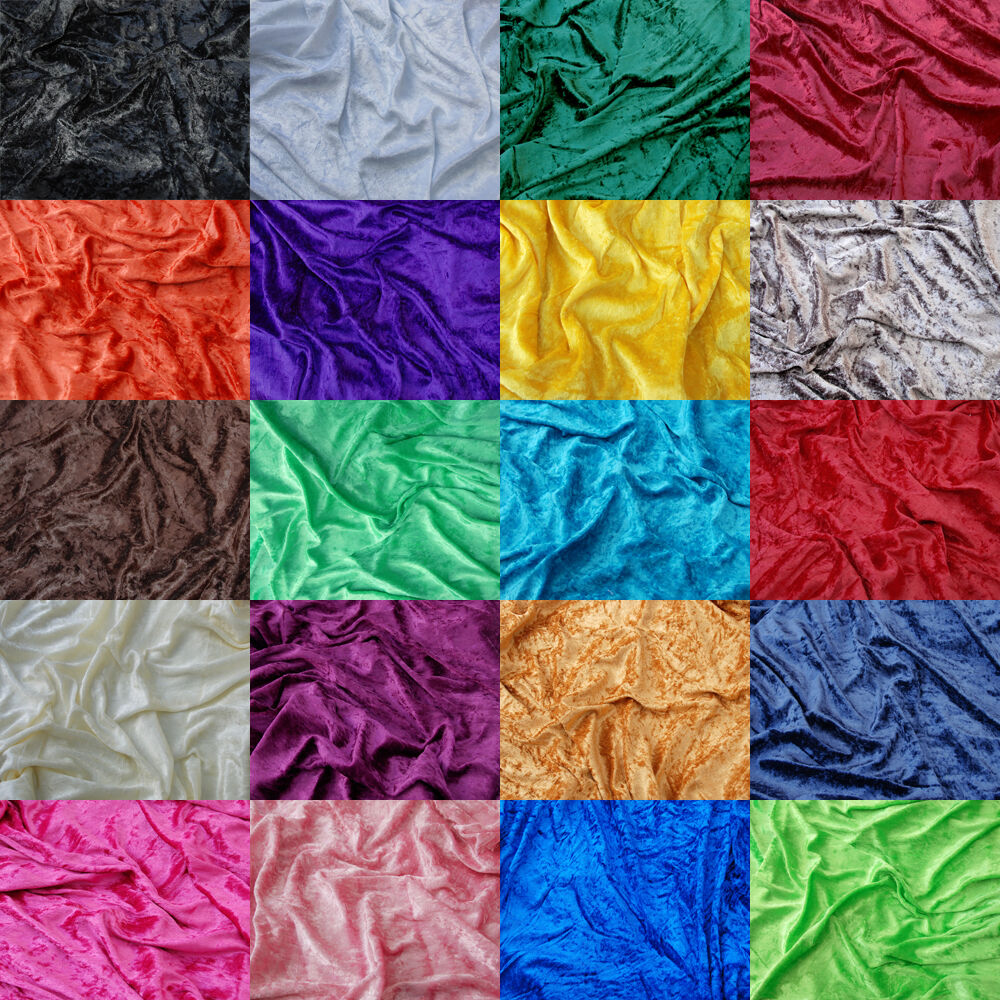 Premium crushed velvet fabric craft stretch velour for Velvet fabric