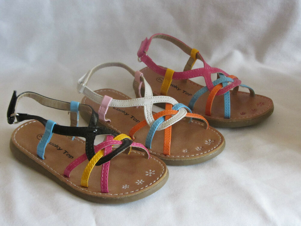 Girl Dress Sandals Multi Colored (ny30) TODDLER Dress Shoes Pageant Party Shoes | EBay