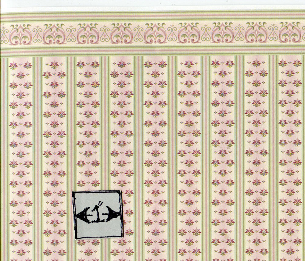 "Brodnax Prints ""Jan"" 1ED101 Edwardian Miniature Wallpaper"