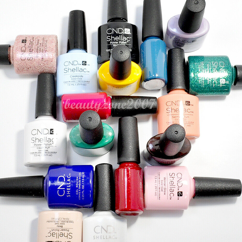 cnd shellac uv gel polish sweet dreams collection chose any one ebay. Black Bedroom Furniture Sets. Home Design Ideas