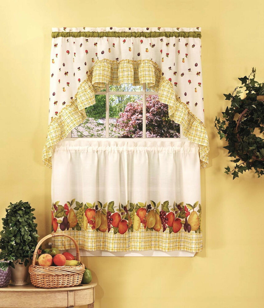 Fruit Medley™ Kitchen Curtain Set By Achim Importing Co
