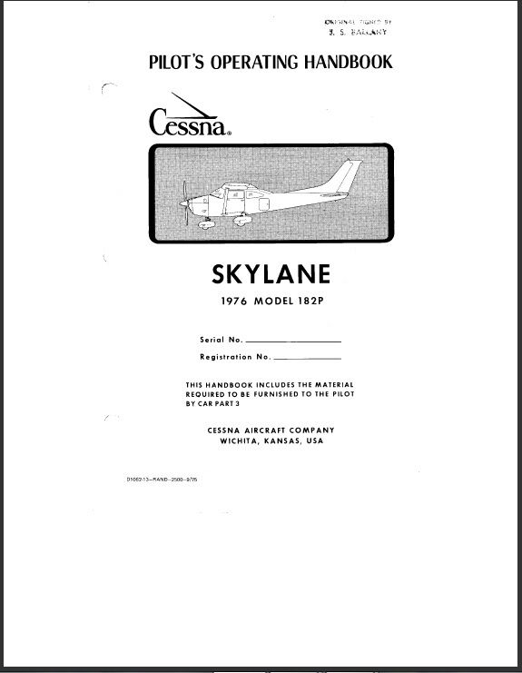 Cessna t210m pilot operating handbook Owners manual