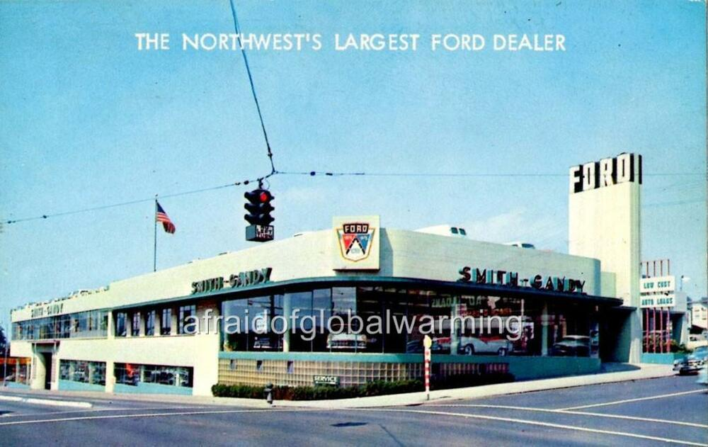Photo 1950s seattle wa smith gandy ford auto for Smith motor company nj
