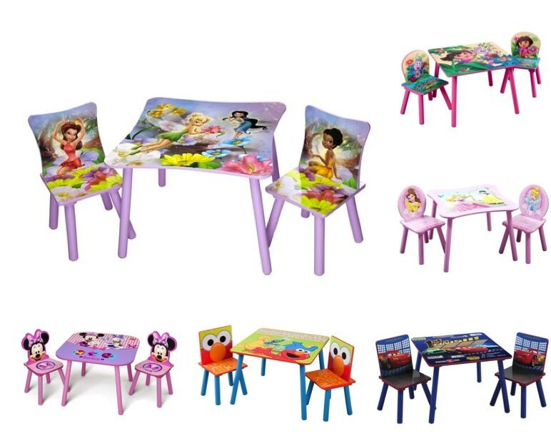 Kids children 39 s 3 piece table chair set disney for Kids tv chair