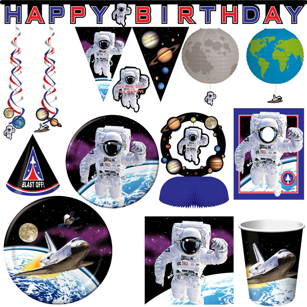 weltraum party kindergeburtstag deko kinderparty astronaut geburtstag set motto ebay. Black Bedroom Furniture Sets. Home Design Ideas