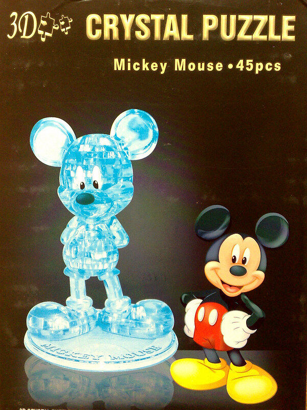 3d Crystal Puzzle Jigsaw Model 45 Pcs Mickey Mouse Blue Ebay