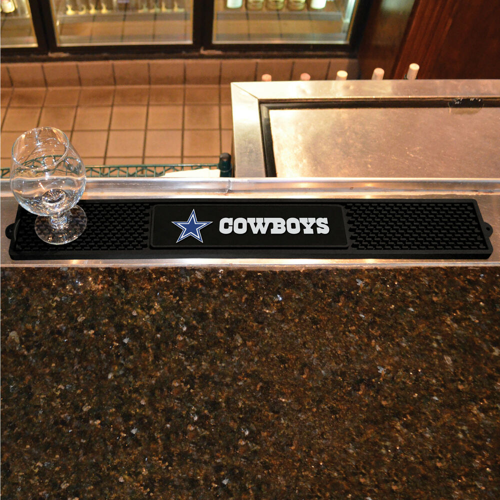 Man Cave Drinks Bar : Dallas cowboys drink mat bar new man cave work lounge