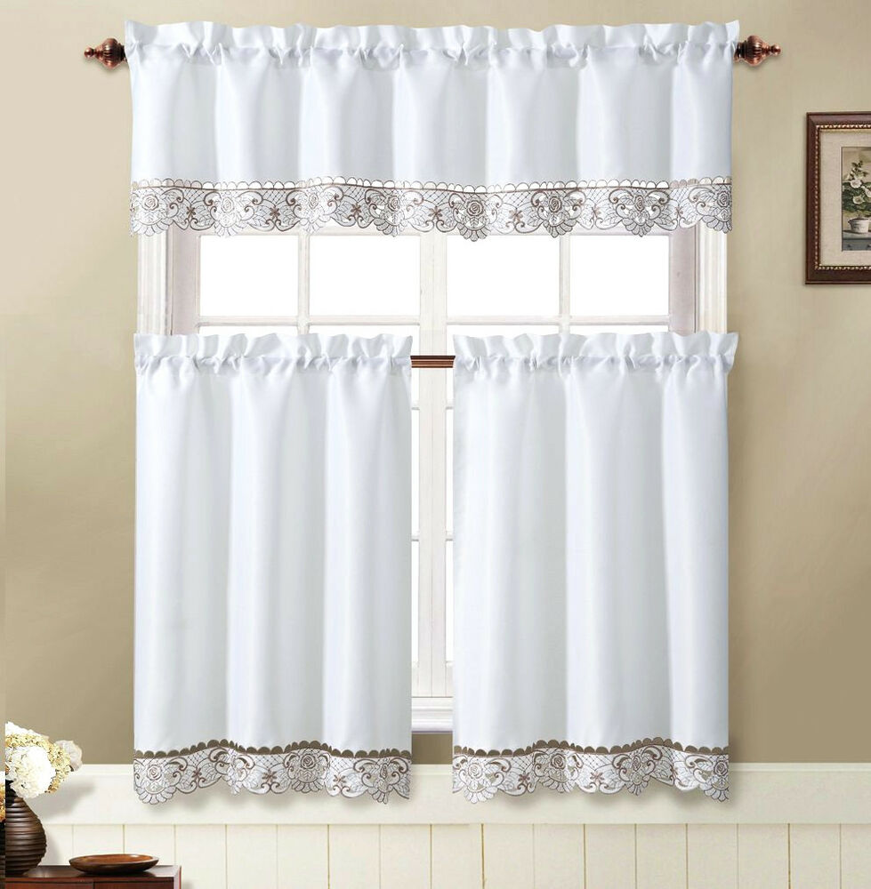 VCNY® Julian 3 Piece Kitchen Curtain Tier & Valance Set