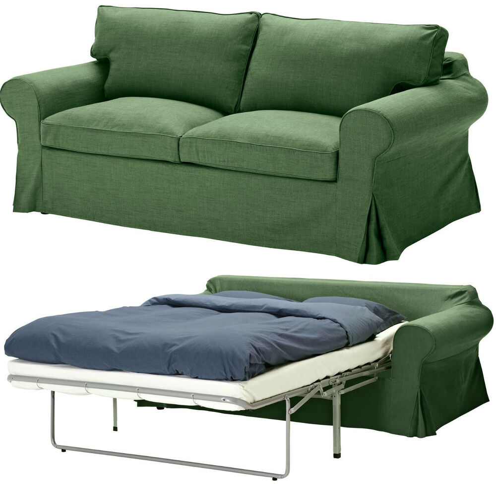 Ikea Sleeper Sofa: Ikea Ektorp Sleeper Sofa Bed Slipcover 2 Seat Sofabed Cover Svanby Green New NIP