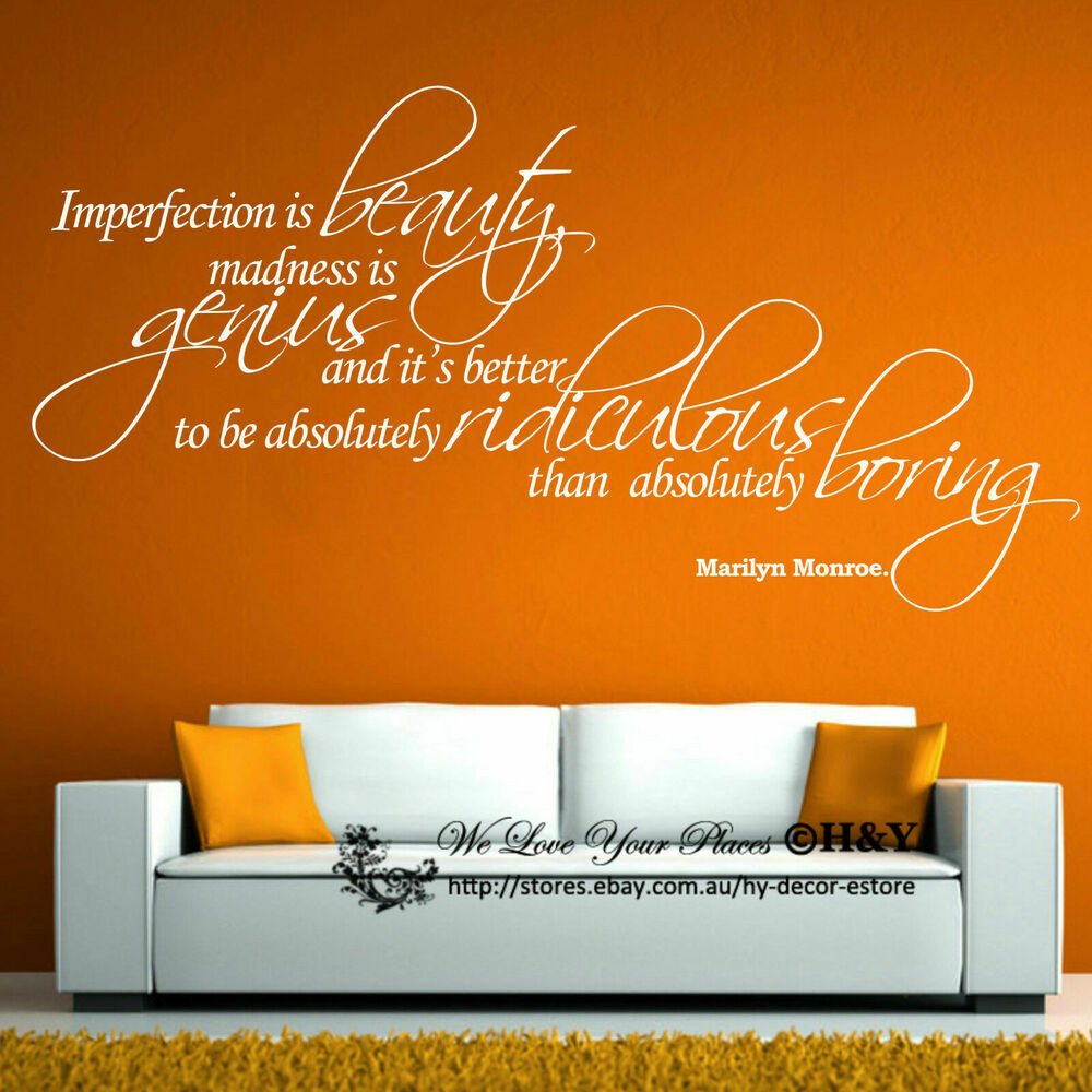 Removable Wall Art Decals Quotes : Removable wall art quotes vinyl decal stickers decor