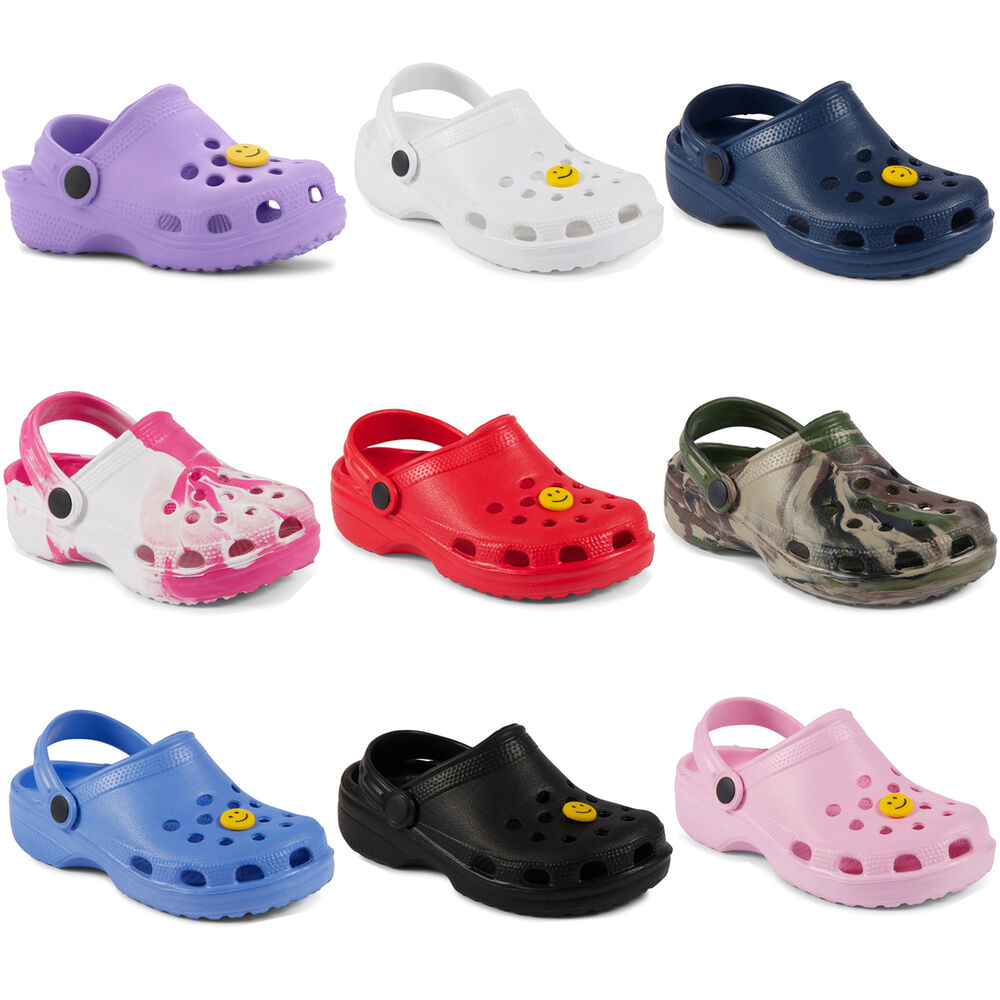 New Kids Girls Boys Summer Beach Clogs Sandals Size 4 5 6 ...