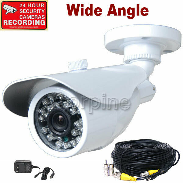 Security Camera Outdoor 24 Ir Leds Day Night Cctv Wide