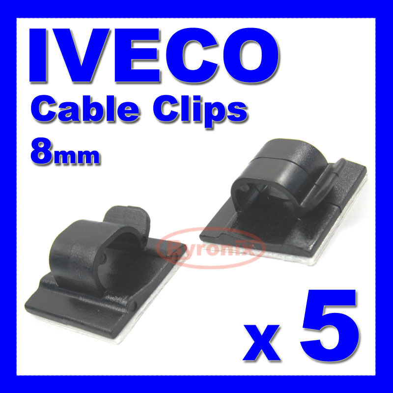 iveco self adhesive cable clips wiring wire loom harness