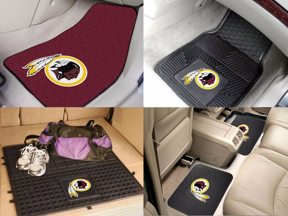 Washington Redskins Nfl Vinyl Carpet Rubber Car Truck Auto Suv Floor Cargo Mats Ebay