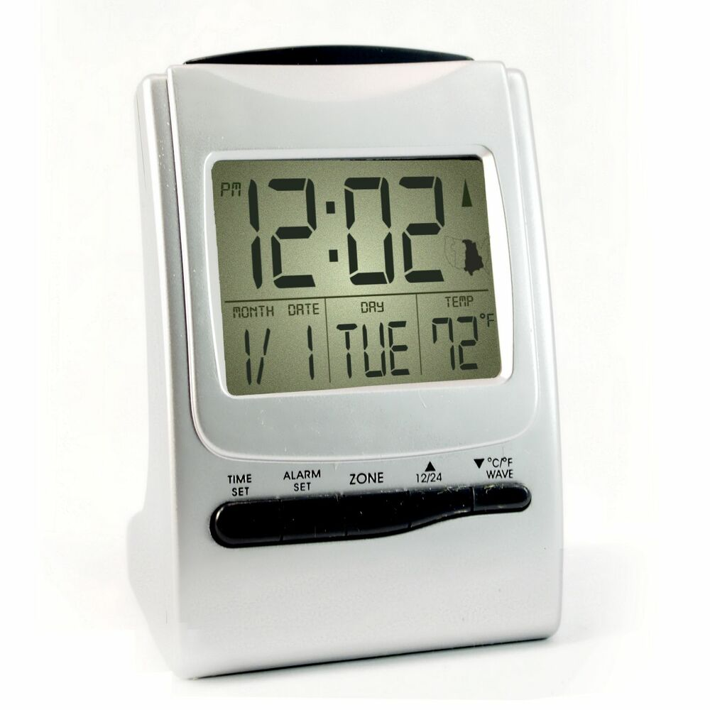 atomic travel alarm clock battery operated radio. Black Bedroom Furniture Sets. Home Design Ideas