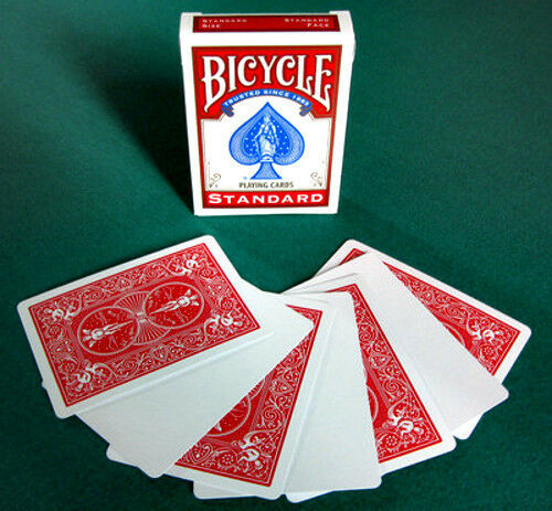 blank face red back playing cardsbicycle new in box 56