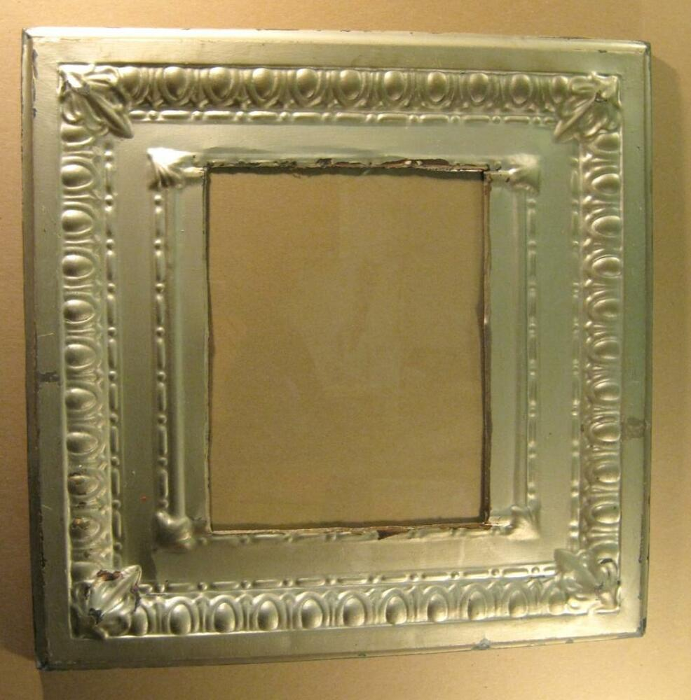 Antique Tin Ceiling Metal 11x14 Silver Picture Frame