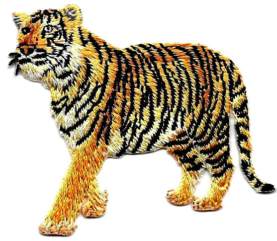Tiger wild animal zoo jungle animals iron on