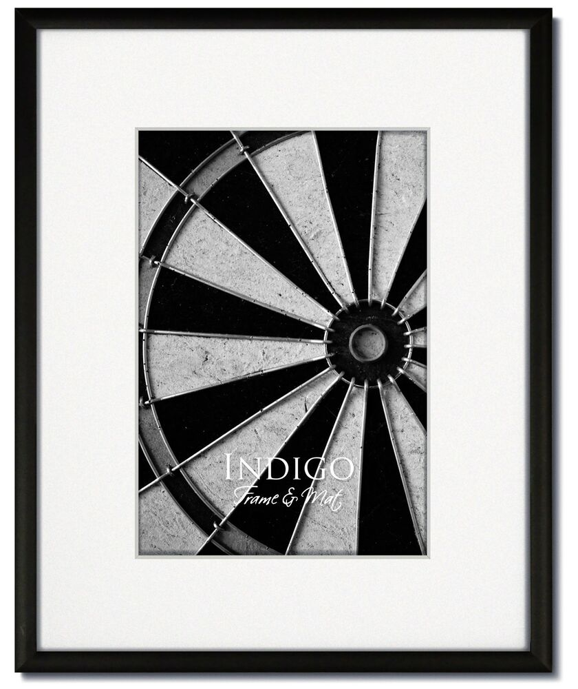 One 16x20 Frosted Black Metal Picture Frame Glass Single