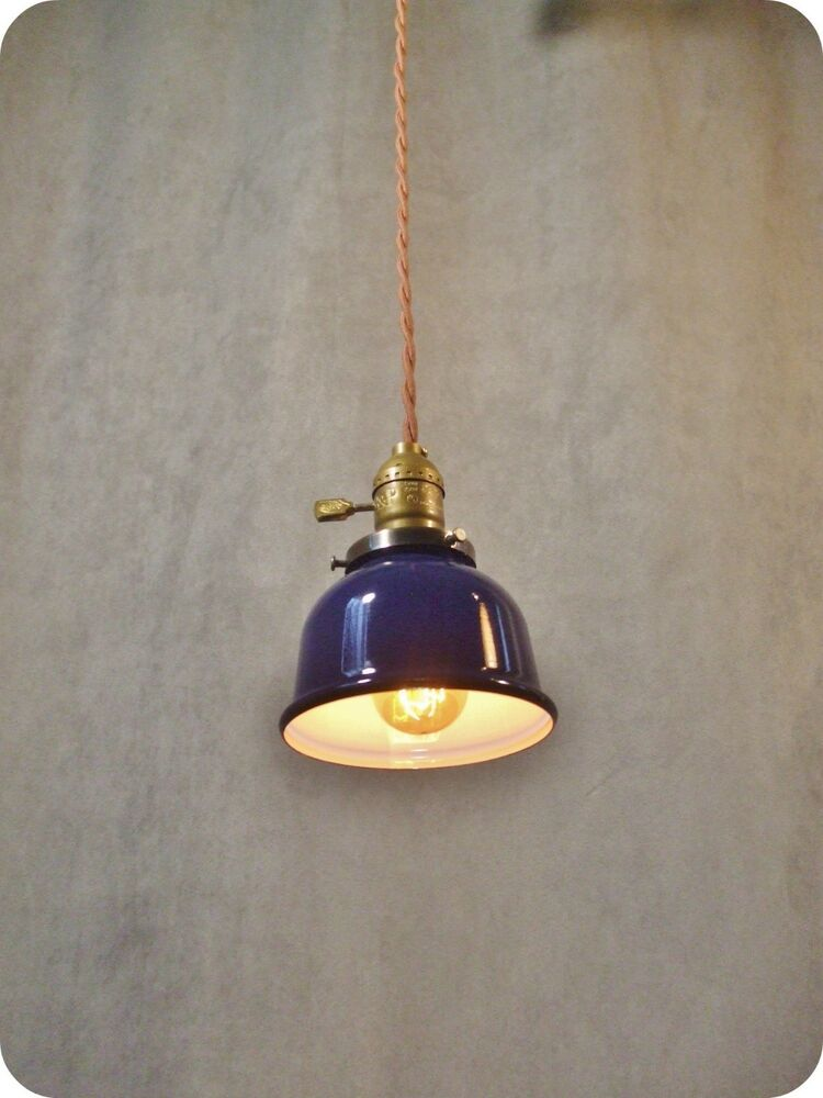 Vintage industrial pendant light machine age lamp ebay for How to make an industrial lamp