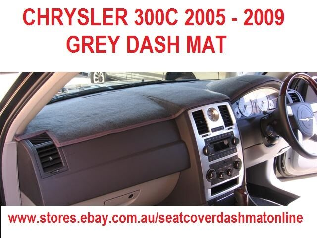 dash mat grey dashmat dashboard cover fit chrysler 300c 05 09 grey ebay. Black Bedroom Furniture Sets. Home Design Ideas
