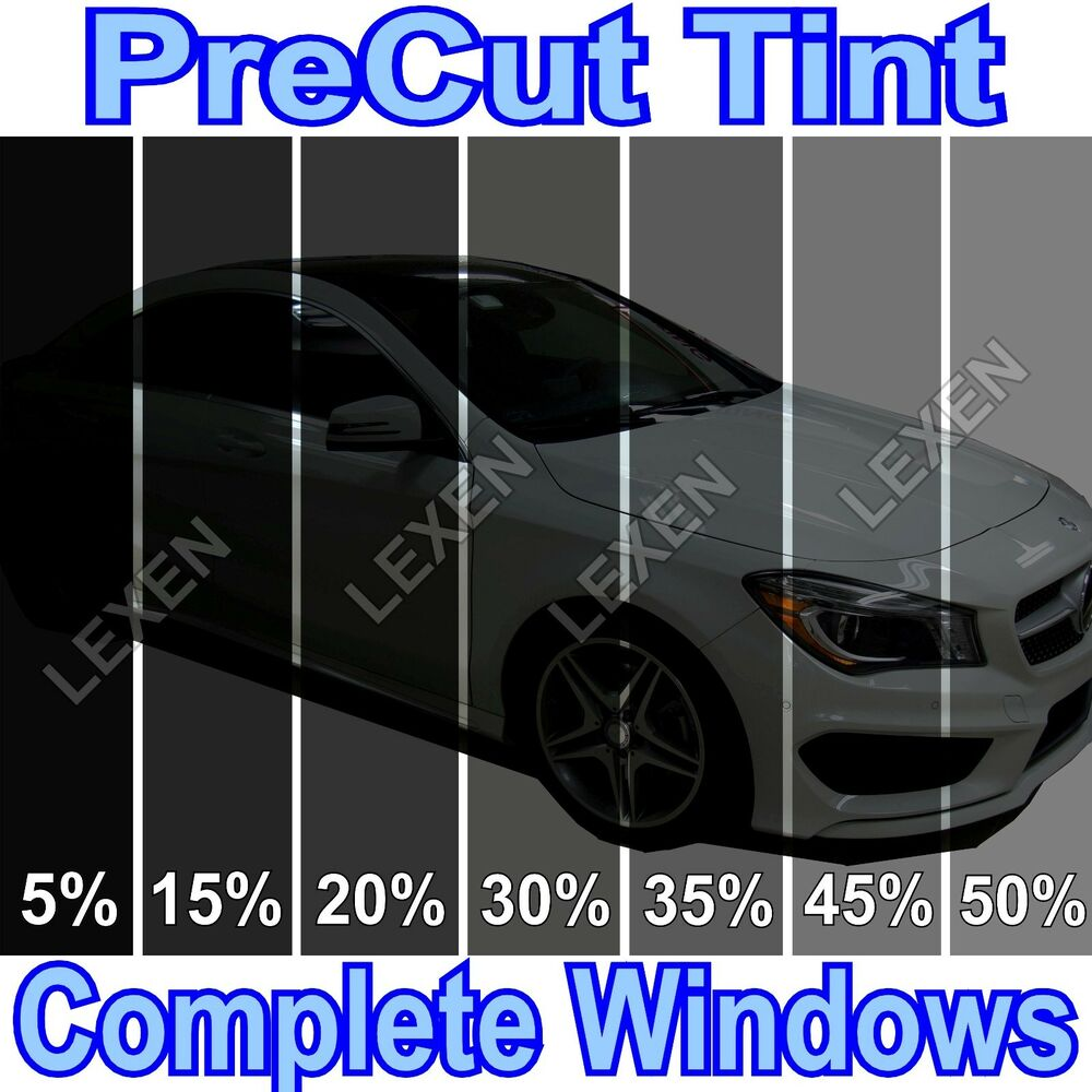 All precut 2ply dyed window tint kit computer cut glass for Window tint film