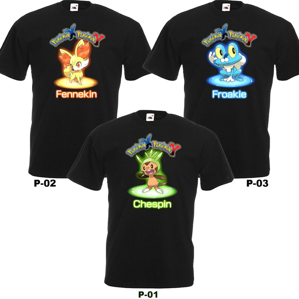 Warriors Come Out And Play T Shirt: Pokemon X And Y Fennekin Chespin Froakie Shirt Movie Anime