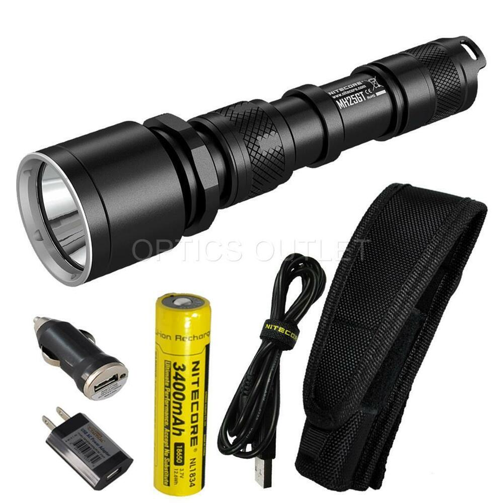 nitecore mh25gt 1000 lumen rechargeable led flashlight w usb adapters mh25 ebay. Black Bedroom Furniture Sets. Home Design Ideas