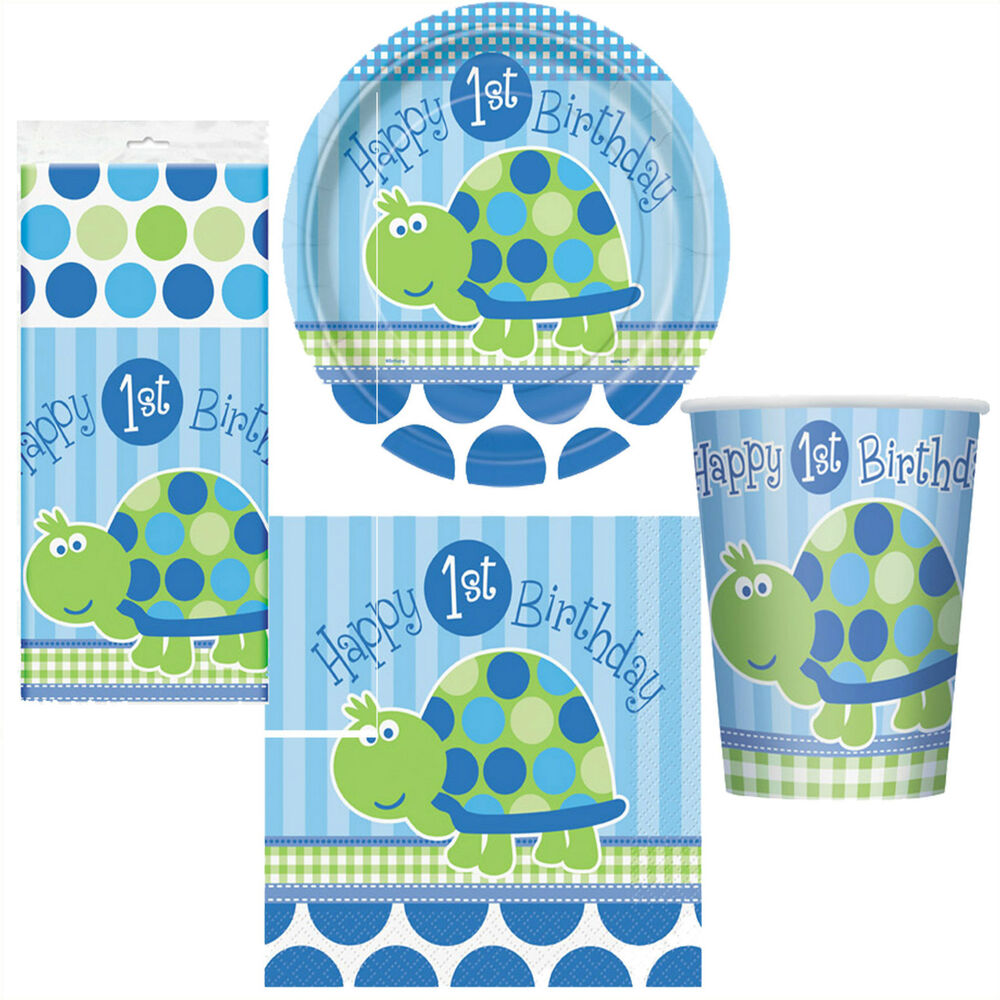 1st birthday boy turtle party pack for 8 people party for 1st birthday decoration packs
