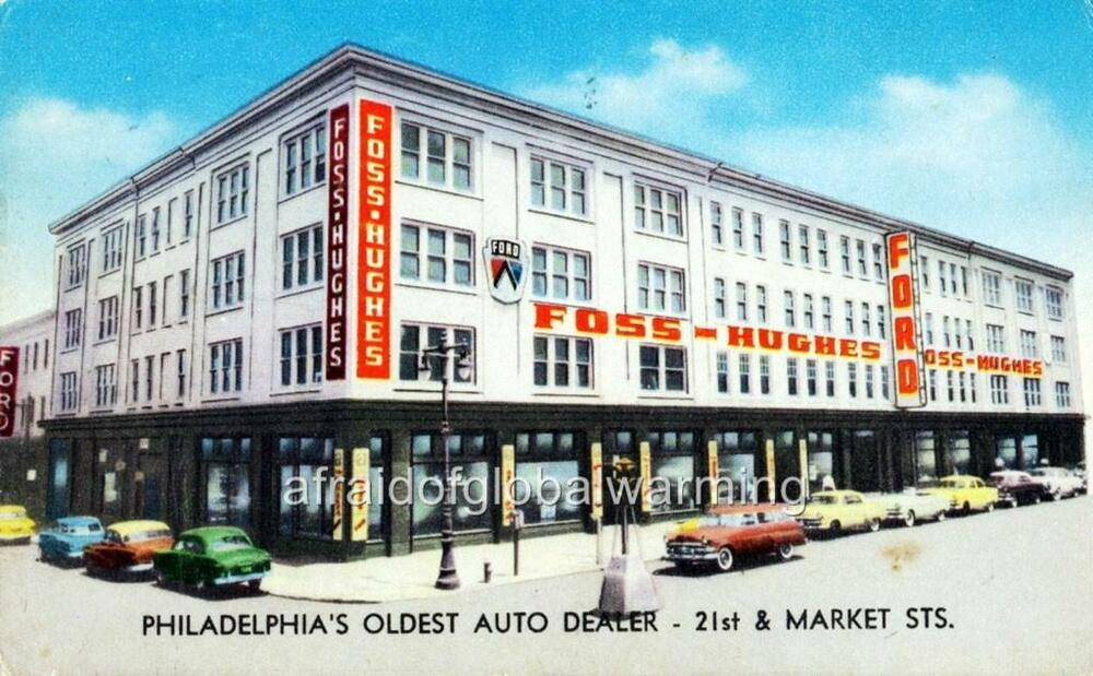 old photo philadelphia pa foss hughes co ford auto dealership ebay. Black Bedroom Furniture Sets. Home Design Ideas