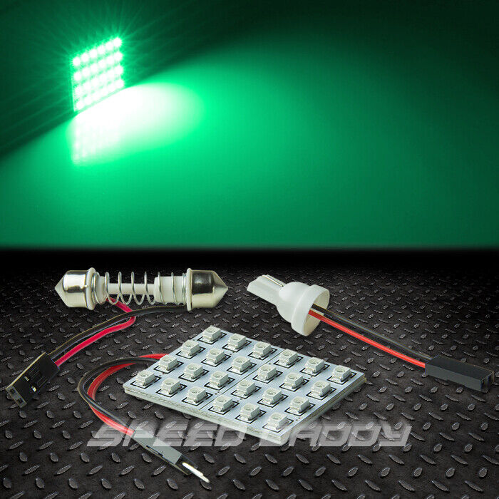t10 24 smd 24smd 3528 car truck green led interior dome map 12v light bulb panel ebay. Black Bedroom Furniture Sets. Home Design Ideas