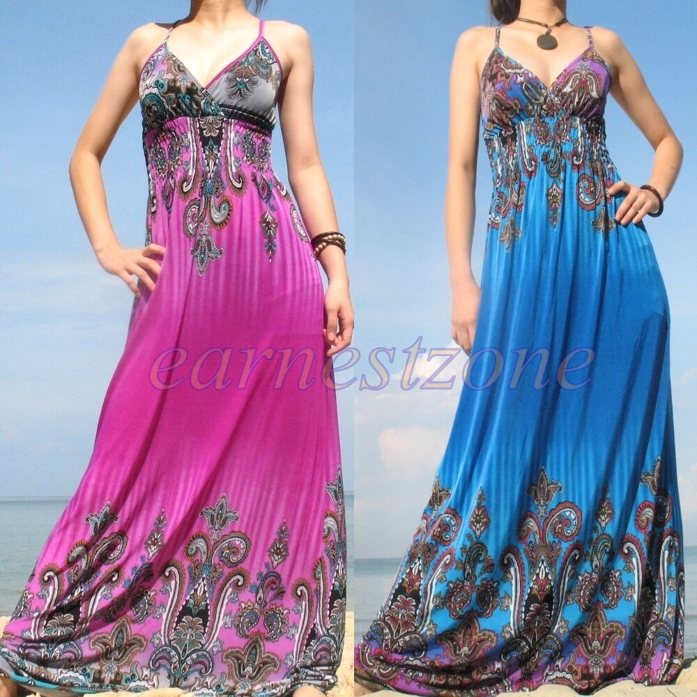 New Evening Party Beach Extra Long Sundress Wedding Cocktail Maxi Dress Xl 3x 4x Ebay