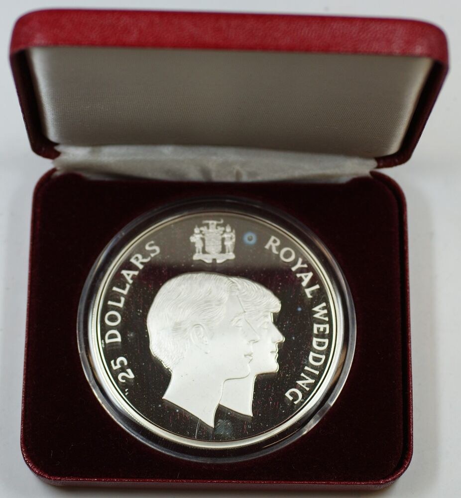 1981 Jamaica 925 Sterling Silver Proof 25 Dollar Coin