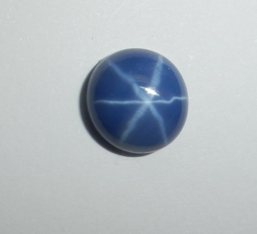 6 rayed opaque blue sapphire cabochon 8 mm