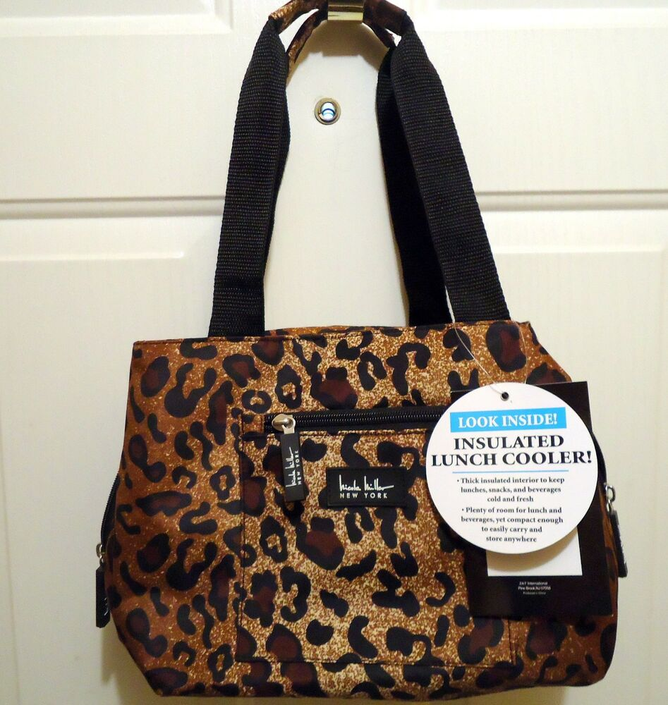 Nicole Miller Leopard Print Insulated Lunch Bag 2 Ebay