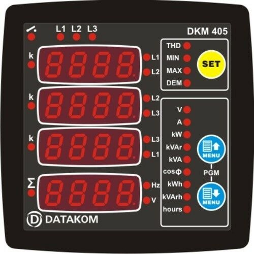 Datakom Dkm 405 Network Analyser Multimeter Panel 3 Phase