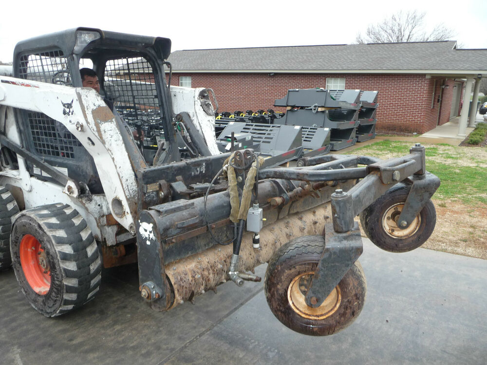 bobcat skid steer attachment 72 soil conditioner harley rake ship