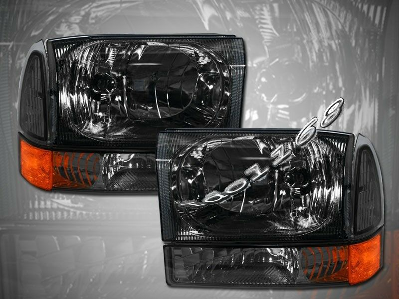 99 04 F250 F350 EXCURSION EURO SMOKE HEADLIGHTS CORNER