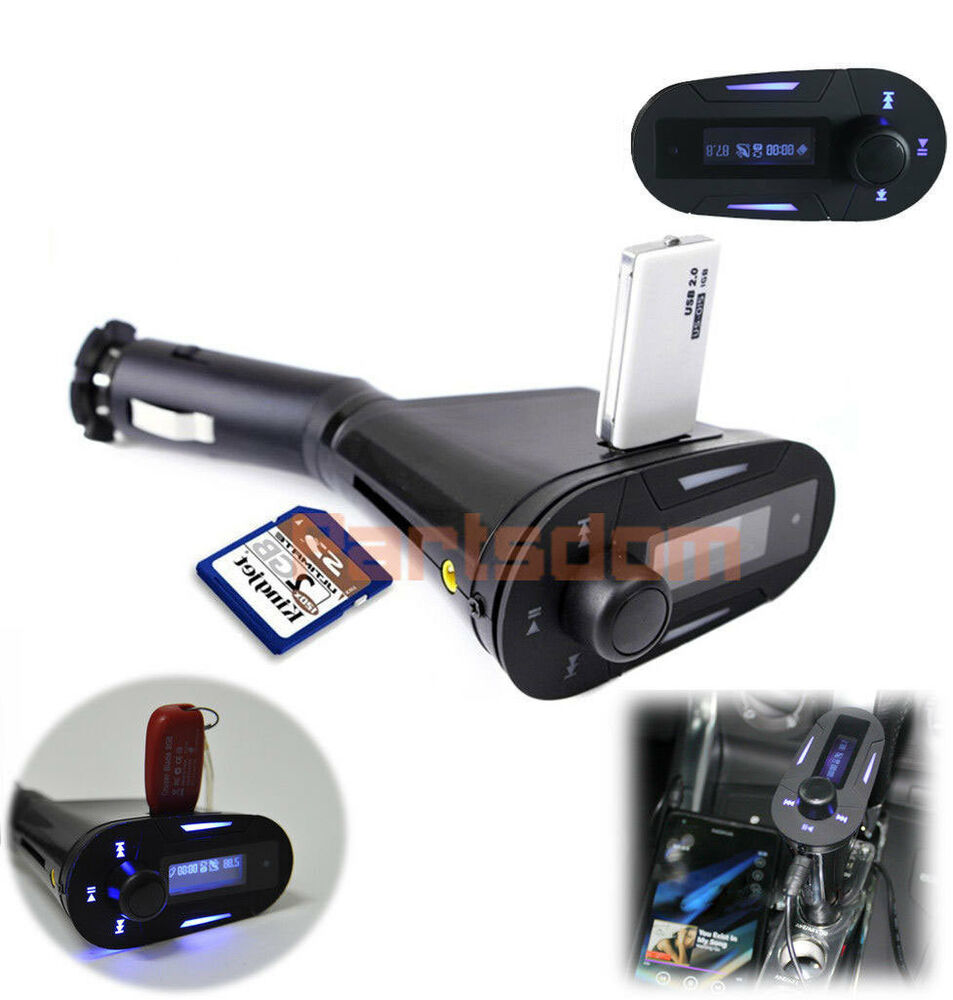 car kit mp3 player wireless fm transmitter modulator usb. Black Bedroom Furniture Sets. Home Design Ideas