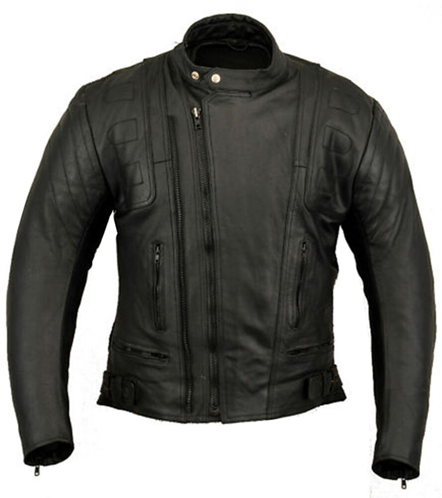 Stealth Motorbike Leather Jacket Motorcycle Protection ...