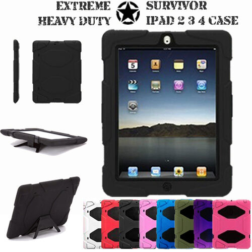 Ipad 2 3 4 Tough Military Hard Rugged Heavy Duty Shock